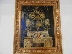 Ermita de San Sebastian.Cuadro en lo que fue la vivienda del Ermitaño.