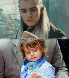 Like father,like son💚❤️🍃😄💕 ~ ~ ~ Credit to the owner Legolas, Fellowship Of The Ring, Lord Of The Rings, Elf King, Concerning Hobbits, Orlando Bloom, The Elf, Great Friends, Middle Earth