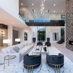 Dream House Interior, Luxury Homes Dream Houses, Dream Home Design, Modern House Design, Home Interior Design, Modern Houses, Modern Interior, Mansion Interior, Luxury Interior