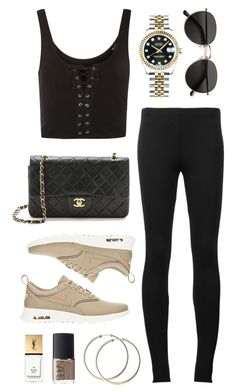 """""""Untitled #21696"""" by florencia95 ❤ liked on Polyvore featuring Topshop, Puma, H&M, NIKE, Rolex, NARS Cosmetics and Yves Saint Laurent"""