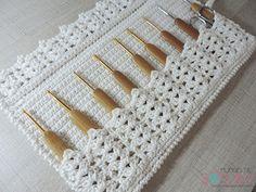 Artesanato com amor...by Lu Guimarães: Porta agulhas de crochê com apenas um novelo