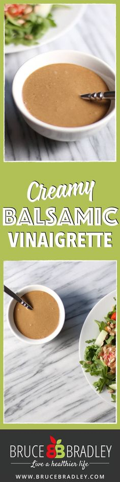 There's nothing like a Creamy Balsamic Vinaigrette to make your salad pop! Easy, simple, and made from real ingredients, this recipe for homemade dressing is a keeper! Creamy Balsamic Dressing, Salad Dressing Balsamic Vinegar, Balsalmic Dressing, White Balsamic Vinaigrette, Balsamic Vinegarette, Substitute For Balsamic Vinegar, Balsamic Mayo Recipe, Balsamic Salad Recipes, Spicy Mayo Recipe