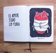 El amor todo locura by Alfonso Casas Moreno More Than Words, Some Words, Street Quotes, Creative Jobs, Word Of Advice, Love Kiss, Motivational Phrases, Valentines Diy, Scrapbook