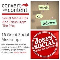 Thanks @Alie Vermeer With Content for featuring our tip!  Read more: http://ow.ly/tavZn  #SocialMedia #PR #Pros #JonesSocial #JonesSocialPR