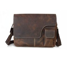 Cattle tiding vintage fashion male one shoulder cross-body 15 briefcase laptop bag man bag 1092 $110.11