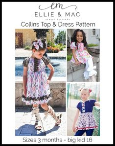 Collins Top and Dress Pattern Wacky Warm Outfits, New Outfits, Casual Outfits, Fashion Outfits, Pdf Sewing Patterns, Dress Patterns, Ellie And Mac Patterns, Smart Attire, Turkey Costume