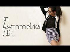DIY: Asymmetrical Skirt - YouTube