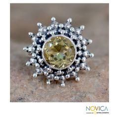 <ul><li>Citrine ring</li><li>Sterling silver jewelry</li><li><a href='http://www.overstock.com/downloads/pdf/2010_RingSizing.pdf'><span class='links'>Click here for ring sizing guide</span></a></li></ul>