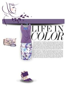 """""""Life In Color"""" by tinayar ❤ liked on Polyvore featuring Reiss, Armani Collezioni, RED Valentino, Nine West and Marni"""