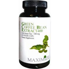 Maximum International Green Coffee Extract + Green Tea- 60 Vcap