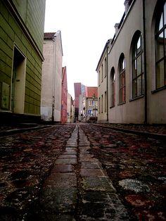 Klaipeda's street by juanchonesa, via Flickr