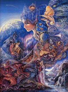 Welcome to the website of the fantasy artist Josephine Wall Josephine Wall, Fantasy World, Fantasy Art, Art Expo, Earth Design, Fantasy Paintings, Visionary Art, Fairy Art, Fairy Room