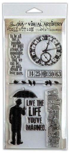 Tim Holtz Stamp Set - Life's Possibilities  This is on my wishlist...I love his stamps!