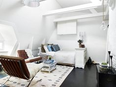 These Seven Studios Prove That One Room Living Can Be Super Stylish - And finally, a sweet little studio in Sweden from Stadshem, via My Domaine.