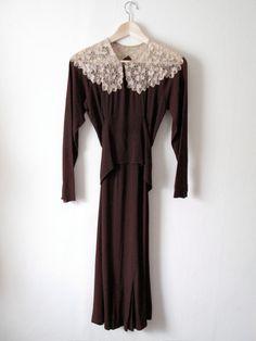 1930 Rayon Crepe Dress