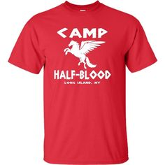 Youth Camp Half-Blood T-Shirt ($15) ❤ liked on Polyvore featuring percy jackson, shirts and tops