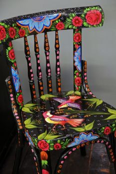 The Hand Painted Faisal Chair - Black