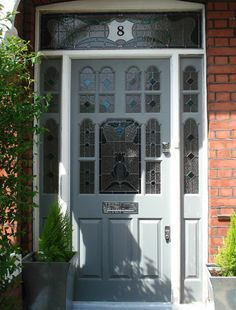 Edwardian Door - inspiration for Letterbox Love Stories. An anthology by World Romance Writers Front Door Porch, House Front, Porch Doors, Victorian Front Doors, Victorian Homes, Door Design, Exterior Design, Beautiful Front Doors, Windows