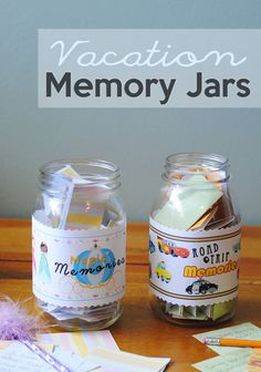 Vacation Memory Jar Tutorial and Printable