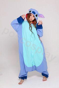 KIGURUMI Animal Pajamas Pyjamas Costume Onesie Adult / Kid SLOTH-stitch. $49.99, via Etsy.