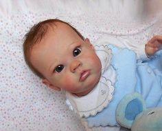 reborn baby dolls Toddler Sharlamae Bonnie Brown eyes glass mohair,rare kit SOL
