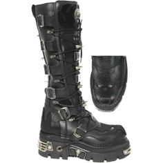 New Rock 161 Reactor Knee High Skull Spike Boots Goth Boots, Biker Boots, Combat Boots, Cowgirl Boots, Western Boots, Riding Boots, Botas Goth, Crazy Shoes, Me Too Shoes