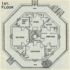 octagon house plans build yourself | The Octagon house is quite ...