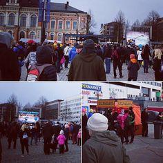 Kuopion torilla tunnelmaa #kalpa #meidänkevät