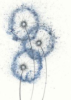 blaue pusteblume   lichtliebe