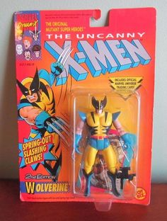 X-Men ToyBiz 1991 Wolverine 2nd Edition MOC Super Nice Marvel X-Men Sealed NEW #ToyBiz