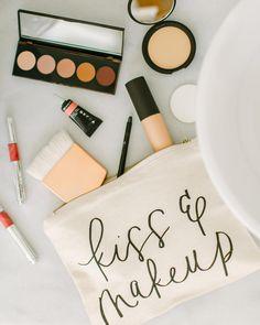 Handmade Kiss & Makeup makeup bag by Parris Chic Boutique- available at Parrischic.com- photo by @jessalovelight
