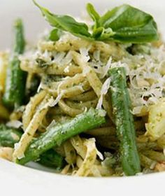 Pesto Linguine with Green Beans & Artichoke Hearts from Real Simple. Exceptional says it ALL.