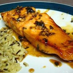 Summer is for salmon on the grill! This sensational salmon marinade combines honey, lime, garlic, and cilantro. Salmon Recipe With Cilantro, Salmon Recipes, Fish Recipes, Seafood Recipes, Healthy Recipes, Delicious Recipes, Seafood Dishes, Grilling Recipes, Healthy Meals