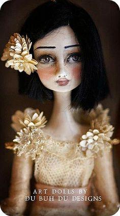 Handmade dolls by Christine Alvarado