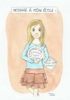 message d'un enfant végétarien à son école, pour que les convictions éthiques aient autant de poids que les convictions religieuses.