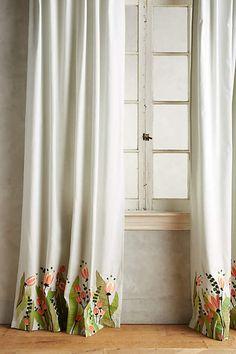 Tulip & Eucalyptus Curtain - anthropologie.com