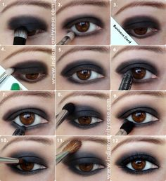 Indian Vanity Case: Black Smokey Eyes Tutorial