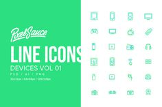 Device Icons Vol 01 by Pixel Sauce on @creativemarket