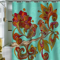 I pinned this Hello Birds Shower Curtain from the Valentina Ramos event at Joss & Main!