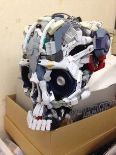 GUNDAM GUY: Gundam Model - 'Gunpla Kit Bash' Skull- Custom Build