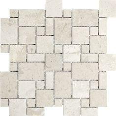 Berkshire Crema Mini Versailles Mosaics