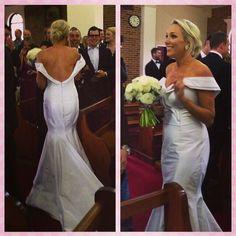 Beautiful Caitlyn in her bespoke Ella Moda wedding gown! <3