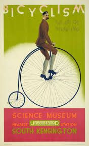"Vintage Art - ""Bicyclism, The Art of Wheeling, Vintage Poster"" wall art available at Great BIG Canvas. : Vintage Art - ""Bicyclism, The Art of Wheeling, Vintage Poster"" wall art available at Great BIG Canvas. Vintage Advertising Posters, Retro Poster, Vintage Travel Posters, Vintage Advertisements, London Underground, Underground Lines, London Transport Museum, Public Transport, Museum Poster"