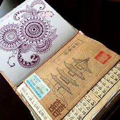 art journal, zen doodle, mandala