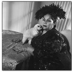 Etta James with her dog Strappy by Mary Ellen Mark, Riverside, 1997