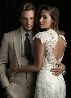 smoking wedding dress
