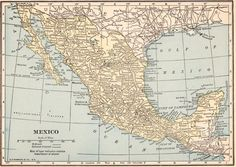 VINTAGE 1923 MEXICO Map 1923 Original Print Neat Collectible Atlas Map Wall Art Gallery Print (fw21)