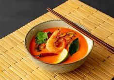 what is thai tom yum - Google Search Tom Yum Soup, Thai Red Curry, Cantaloupe, Fruit, Google Search, Ethnic Recipes, Food, Thai Tom Yum Soup, Essen