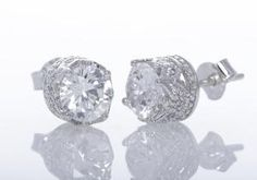 CZ Stud Earrings | Gayle Gaston Jewelry