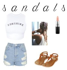 """Untitled #11"" by brunduemma on Polyvore featuring MAC Cosmetics, Topshop, Wildfox and summersandals"
